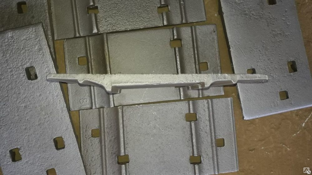 подкладка под рельсы Д-50 вид сбоку